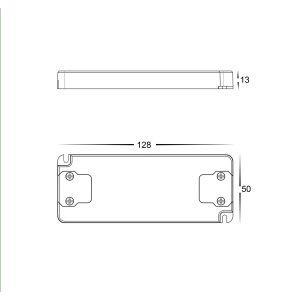 HV9666-12V20W Dimensions