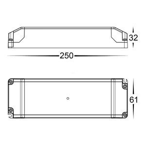HV9667-12V60W Dimensions