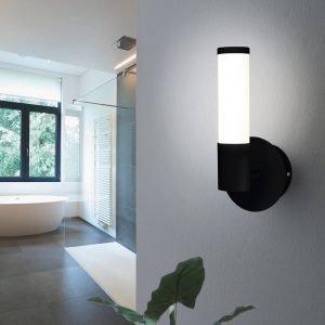 Palmera 4.5W Warm White LED Wall Light Black and Opal Diffuser