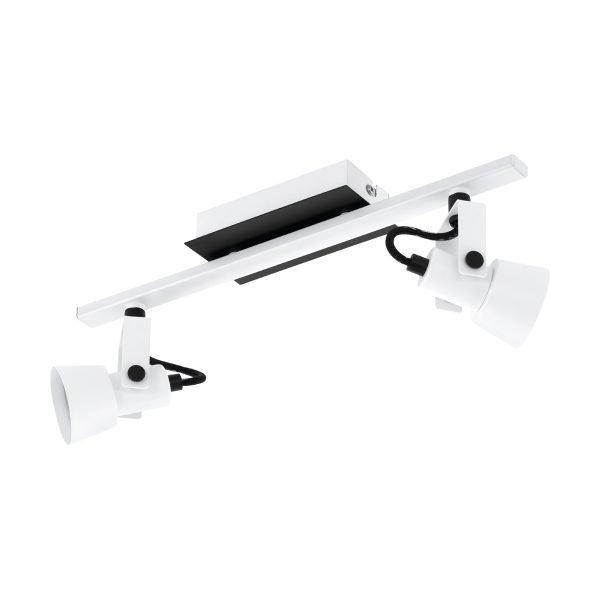 Trillo 2 Light GU10 LED Spotlight in White & Black