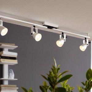 Trillo 4 Light GU10 LED Spotlight in White & Black
