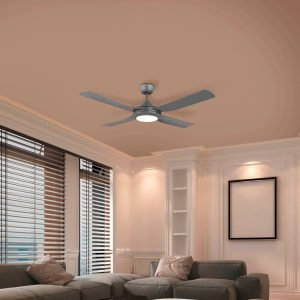 """Titanium Eglo Bondi 52"""" (1320mm) ABS Indoor/Outdoor Ceiling Fan with 20W CCT LED Light"""