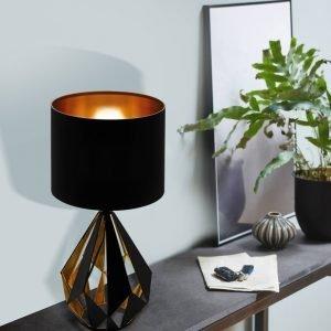 Carlton 1 Light Black & Gold Table Lamp