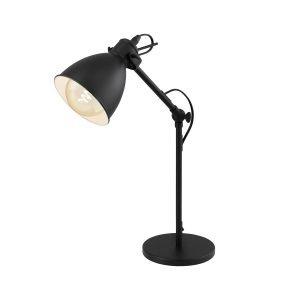 Priddy Industrial Table Lamp in Black
