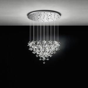Pianopoli 107.5W Warm White LED Chrome & Crystal Chandelier Pendant Light