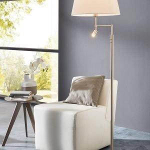 Santander Mother & Child Floor Lamp in Satin Nickel