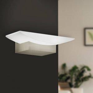 Metrass Satin Nickel 5.6W LED Wall Light in Warm White