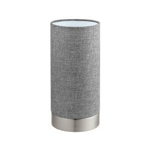 Pasteri Dimmable Touch Table Satin Nickel & Grey