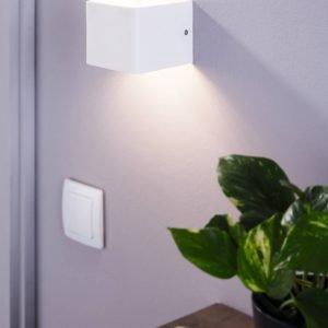 Sania 6W Warm White LED Rectangular Wall Light in White